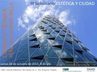 Cartel tercer seminario estetica y ciudad