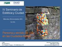 IV Seminario de Estética y Ciudad (Cartel)