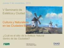 Cartel del V seminario de Estética y Ciudad 2015